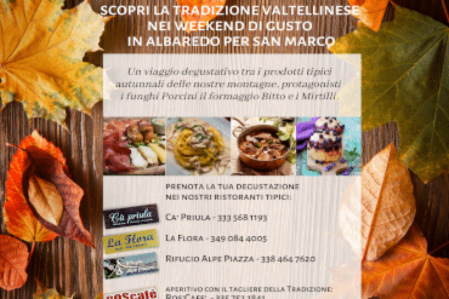 Settembre 2021 – Weekend di gusto